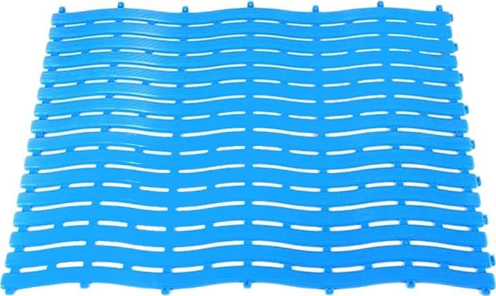 Коврик-дорожка для бани Банная линия New Wave, 39-642, синий, 0,6 х 12 м