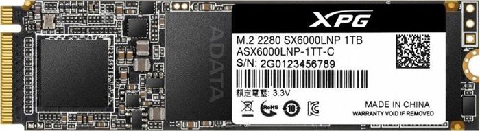 SSD накопитель ADATA XPG SX6000 Lite 1TB, ASX6000LNP-1TT-C ssd диск adata xpg sx6000 128gb asx6000np 128gt c