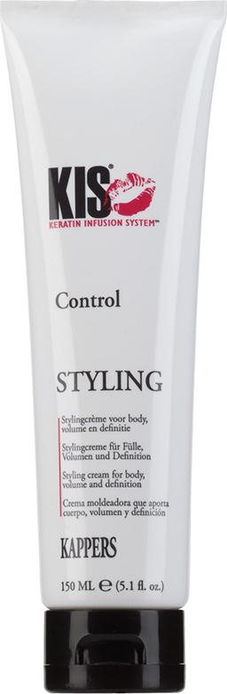 Моделирующий крем-блеск KIS Control для укладки вьющихся и химически завитых волос, 150 мл dikson моделирующий крем для кудрявых волос степень фиксации 2 modeling cream 14 150 мл