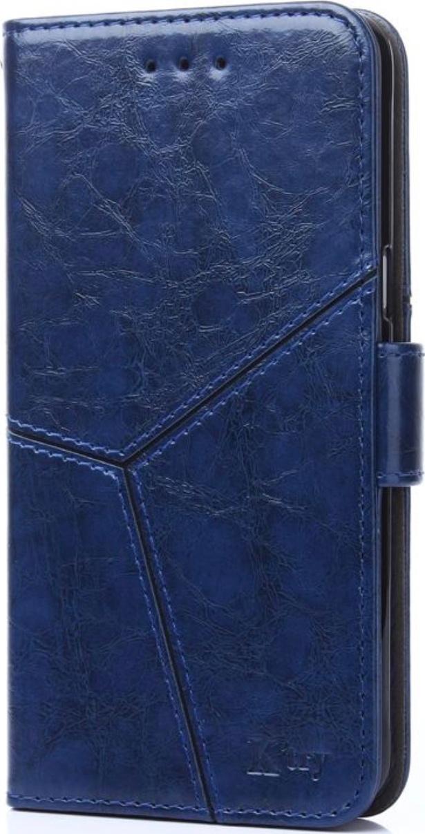 Чехол-книжка MyPads для Huawei Y5 2019  Huawei Honor 8S прошитый по контуру с необычным геометрическим швом синий