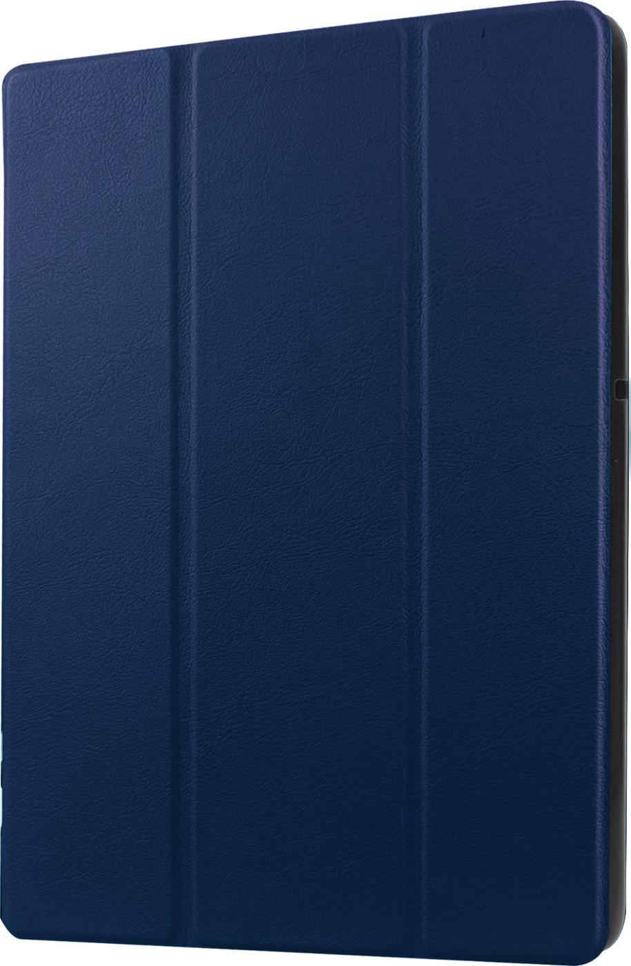 Чехол-обложка MyPads для Acer Iconia One 10 B3-A30 тонкий умный кожаный на пластиковой основе с трансформацией в подставку синий