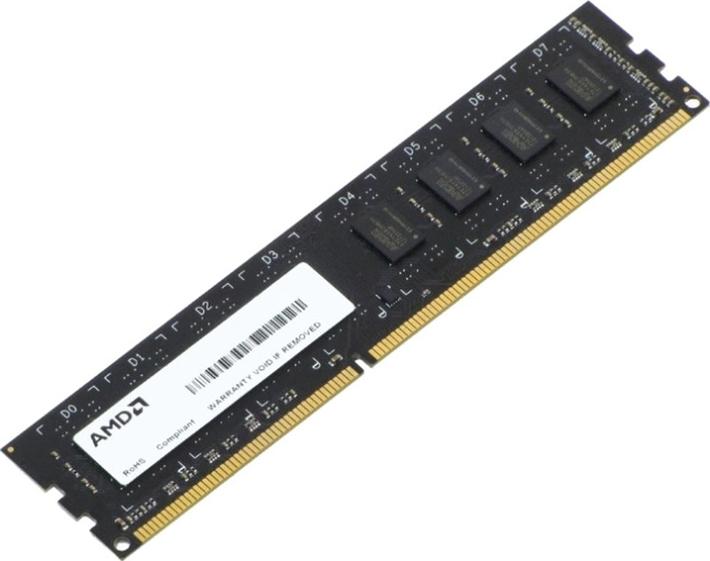 Оперативная память AMD 2GB DDR3L 1600 DIMM R5 Entertainment Series Black R532G1601U1SL-U Non-ECC, CL11, 1.35V