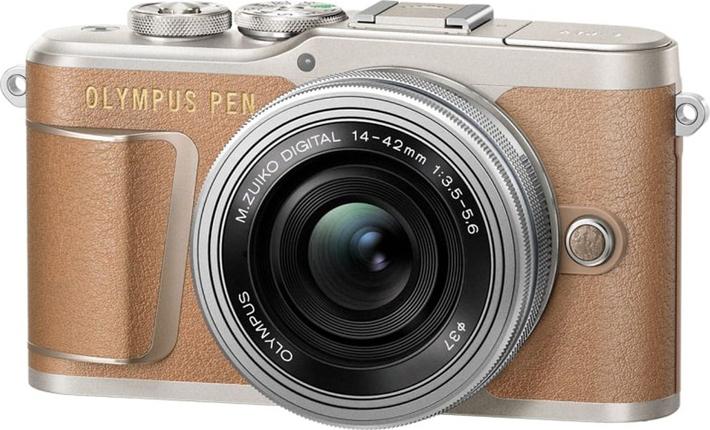 Беззеркальный фотоаппарат Olympus E-PL9 Pancake Zoom Kit, коричневый