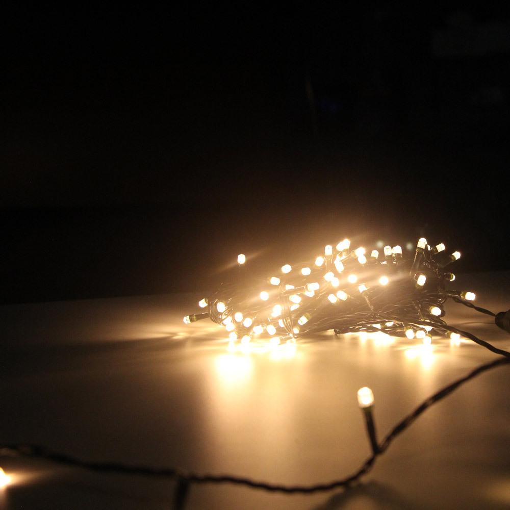 """Гирлянда-нить """"Кристалл"""" SH Lights DC-LD120-C-E, 12 м, 120 светодиодов, цвет: медный"""