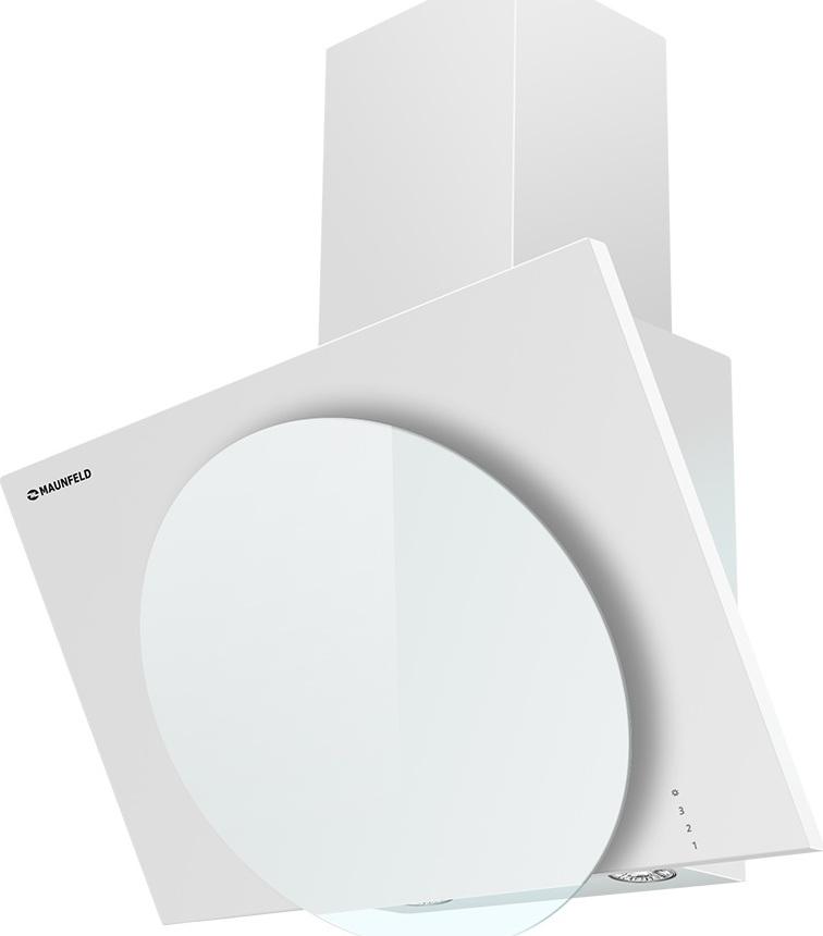 Настенная вытяжка MAUNFELD TOWER L (PUSH) 60 белый/белое стекло Maunfeld