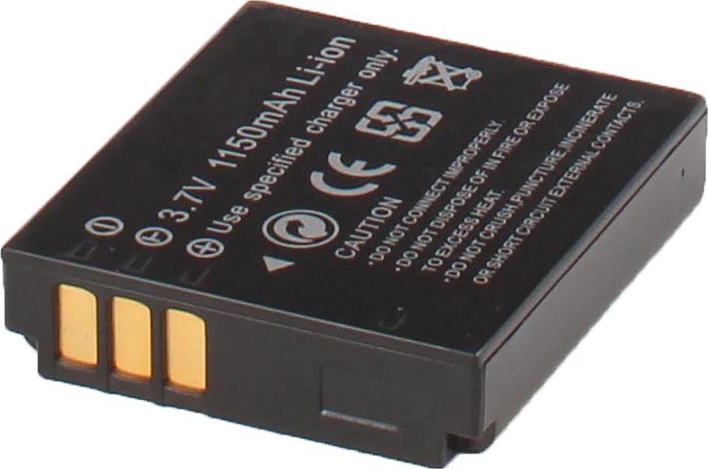Аккумуляторная батарея iBatt iB-T1-F148 1150mAh для камер FujiFilm FinePix F40FD, FinePix F20, FinePix F47FD,  для Leica D-Lux 4, D-Lux 3,  для Panasonic Lumix DMC-LX3, Lumix DMC-LX2, Lumix DMC-FX01-A, Lumix DMC-FX10, Lumix DMC-LX1, Lumix DMC-FX12,