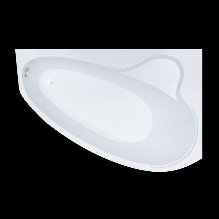 Акриловая ванна Triton Пеарл-шелл 160x104 асимметричная левая