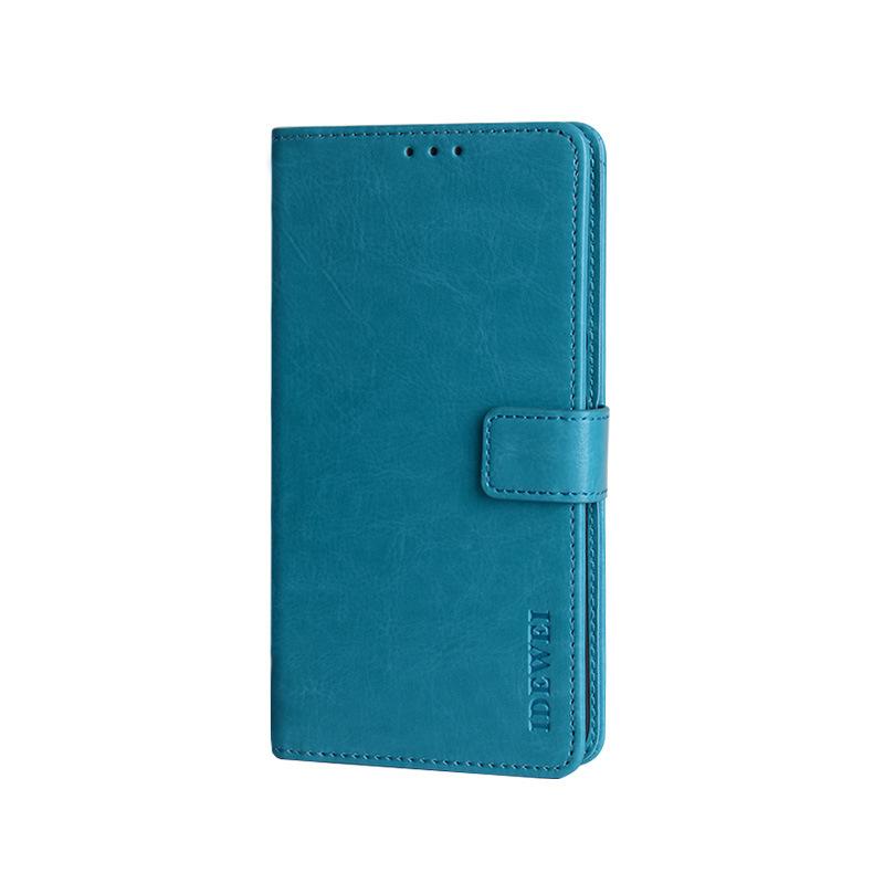 Чехол-книжка MyPads для Nokia 7.2/ Nokia 6.2 с мульти-подставкой застежкой и визитницей голубой