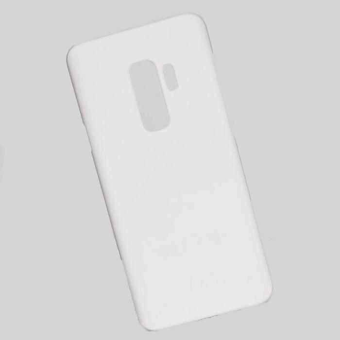 Чехол для SAMSUNG GALAXY S9 PLUS белый пластиковый прорезиненный