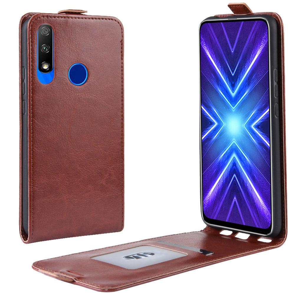 Чехол-флип MyPads для Honor 9X (STK-LX1)/ Huawei Honor 9X Premium / Honor 9X (Russia) вертикальный откидной коричневый