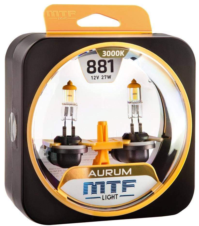 Галогеновые лампы MTF light Aurum 3000K H27(881)
