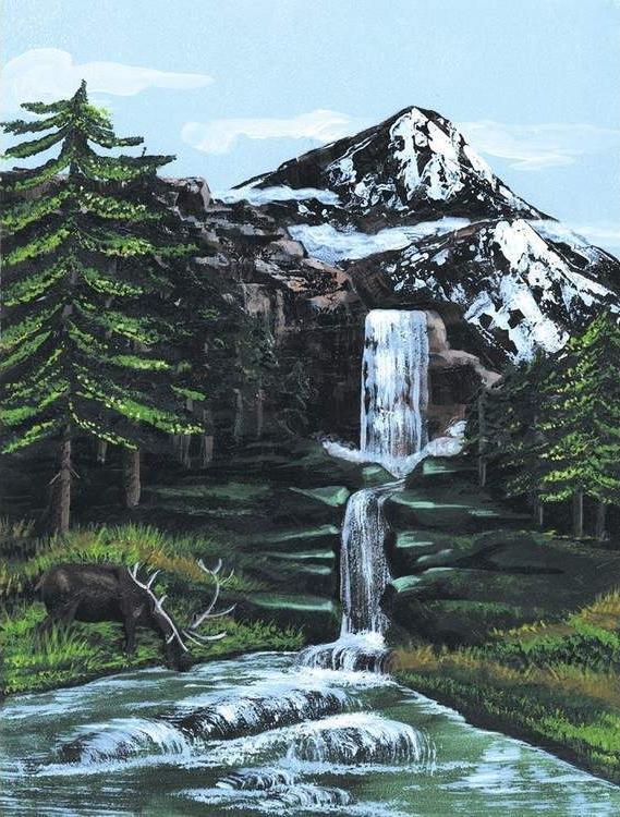 """Картина по номерам Royal&Langnickel """"Горный водопад"""", 22 ..."""
