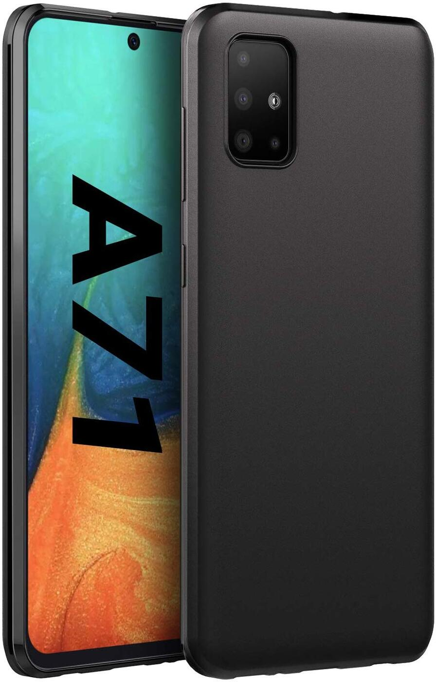 Матовый силиконовый чехол  для Samsung Galaxy A71, черный