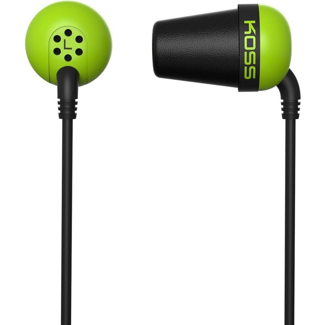 Наушники проводные KOSS The Plug Green