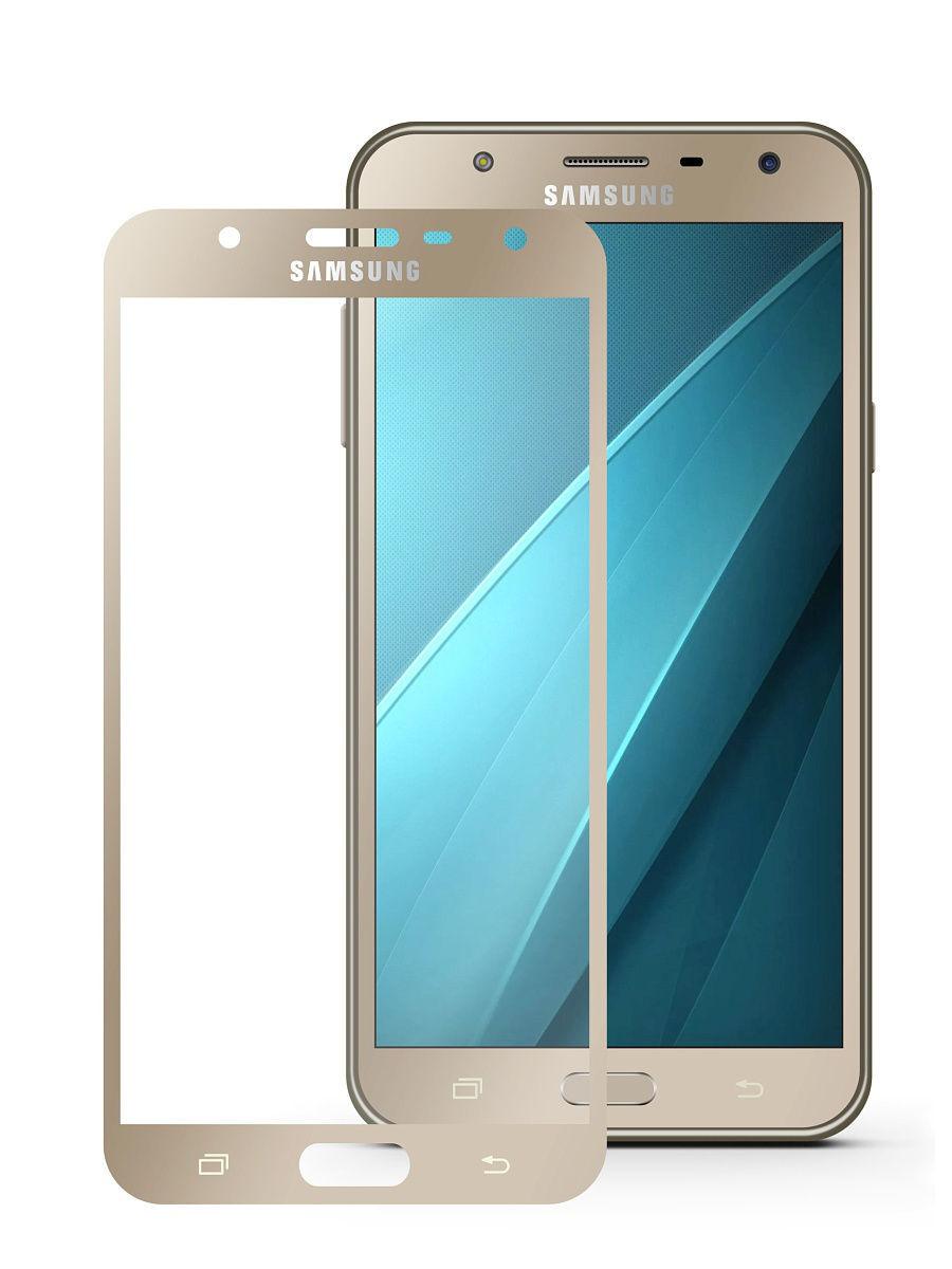 Защитное стекло для Samsung Galaxy J7  2017 Золото