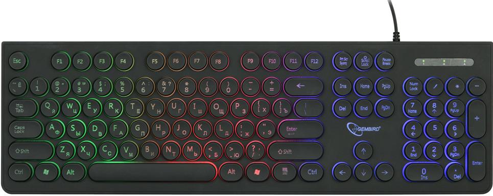Клавиатура с подсветкой Gembird KB-240L