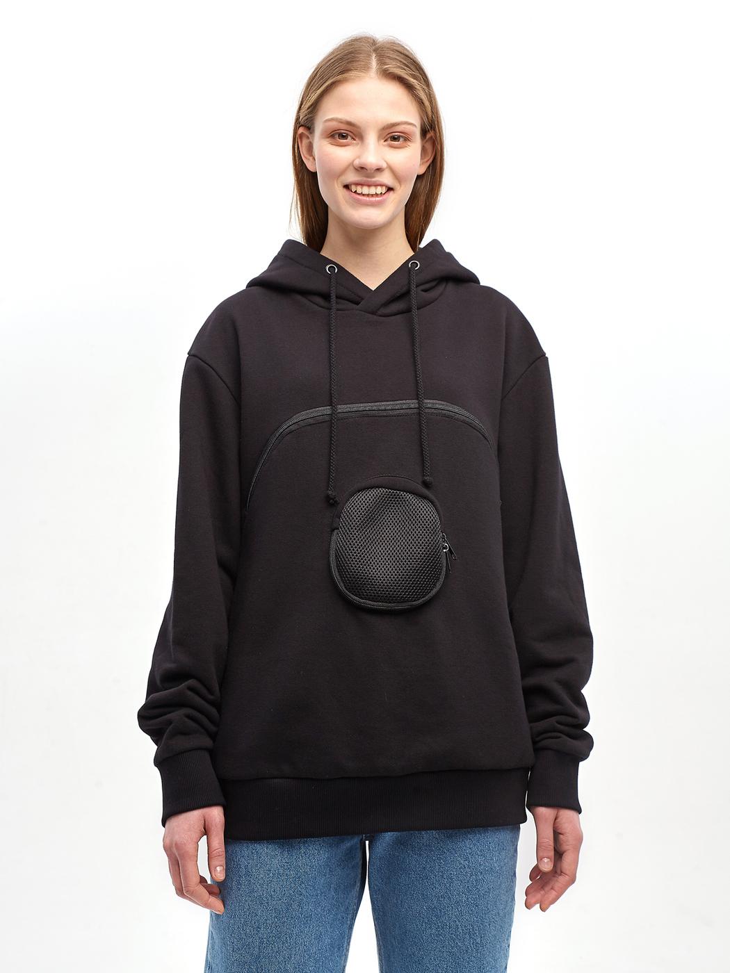 Толстовка с карманом для переноски животных ORZ-design (oversize)