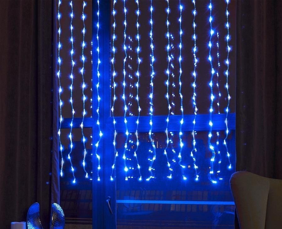 Электрогирлянда интерьерная Дождь QVATRA Светодиодная 300 ламп, 1.5 м