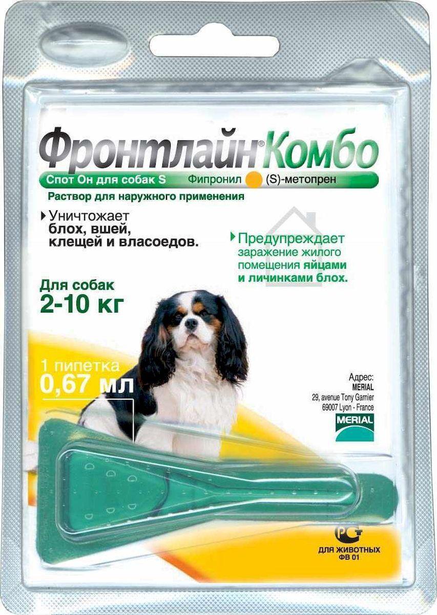 Boehringer Ingelheim Фронтлайн Комбо для собак 2-10 кг S пипетка 0,67 мл  #1