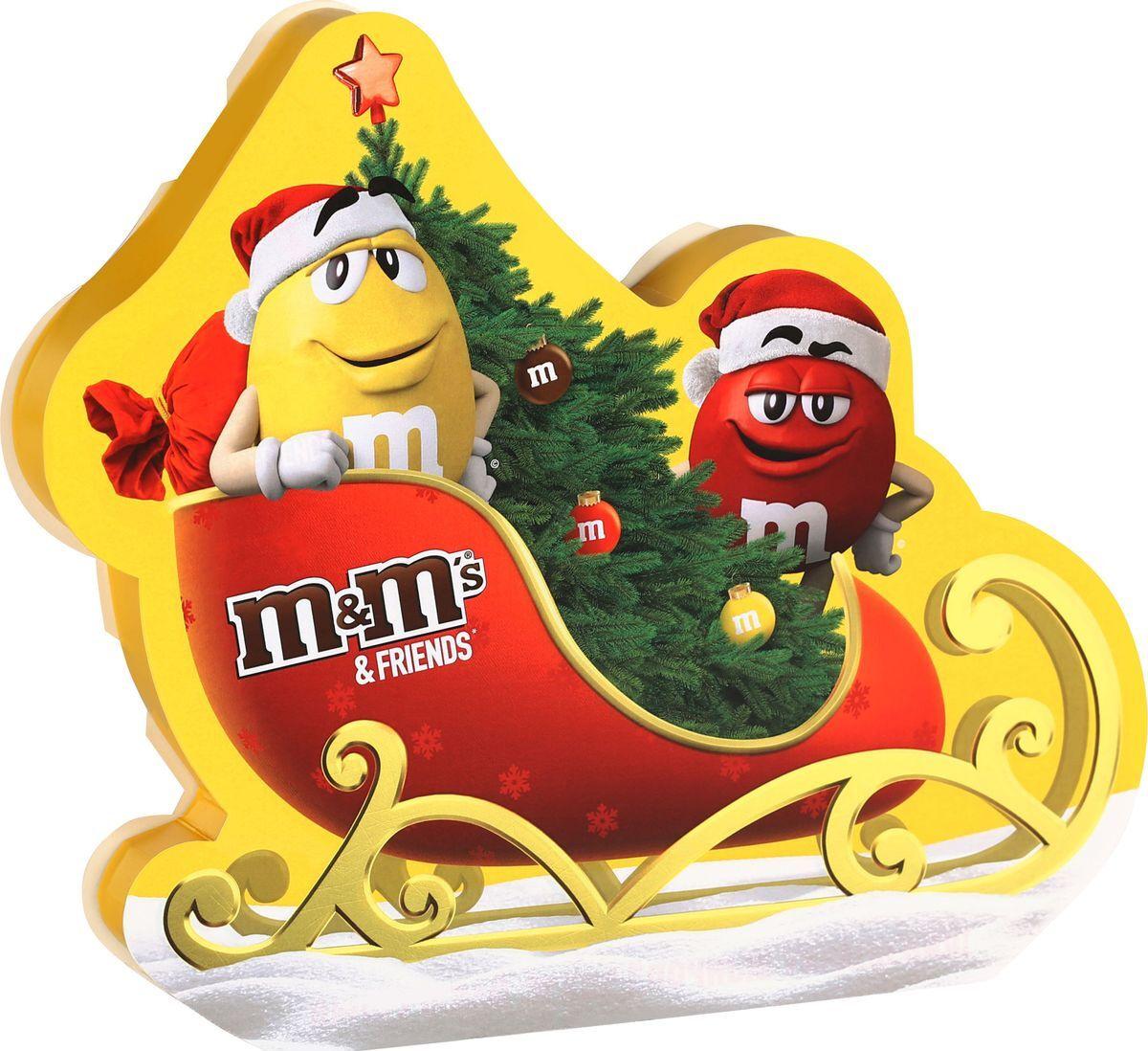 Конфеты M&M's Сани Подарочный набор шоколадный, 325 г #1