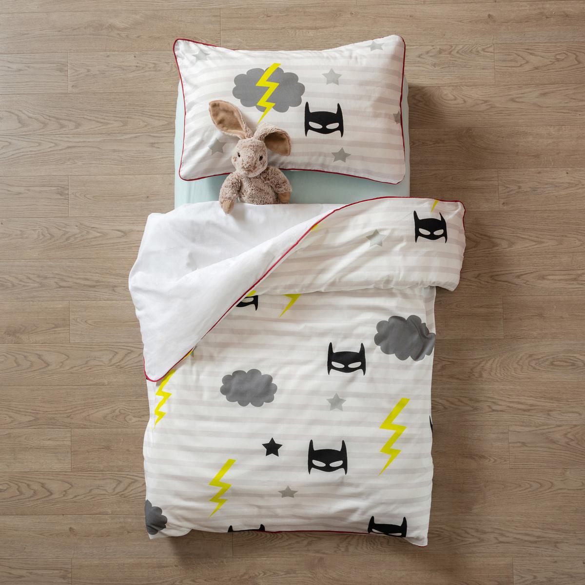 """Комплект постельного белья """"Заяц на подушке"""" МАЛЫШ СУПЕРГЕРОЙ  #1"""