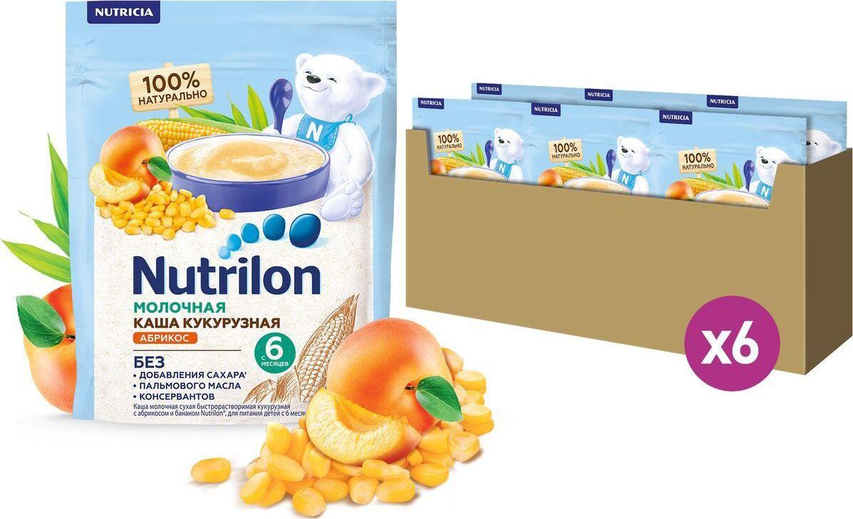 Каша для детей Nutrilon Кукурузная с абрикосом и бананом, молочная, 200 г х 6 шт  #1