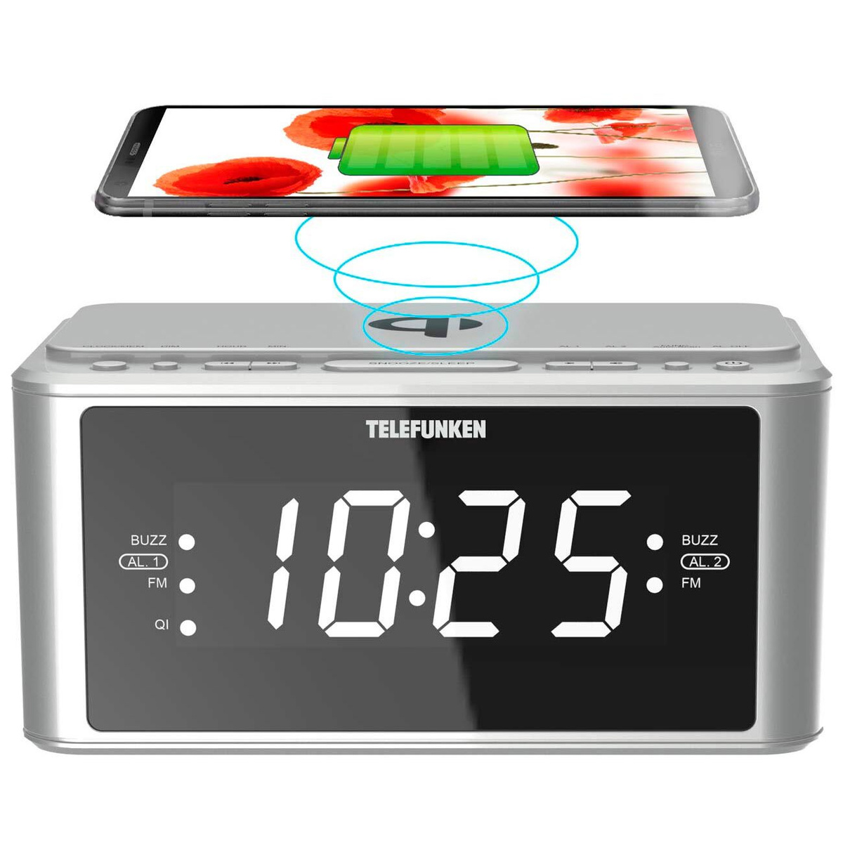 Telefunken Радио-часы TF-1595U Silver #1