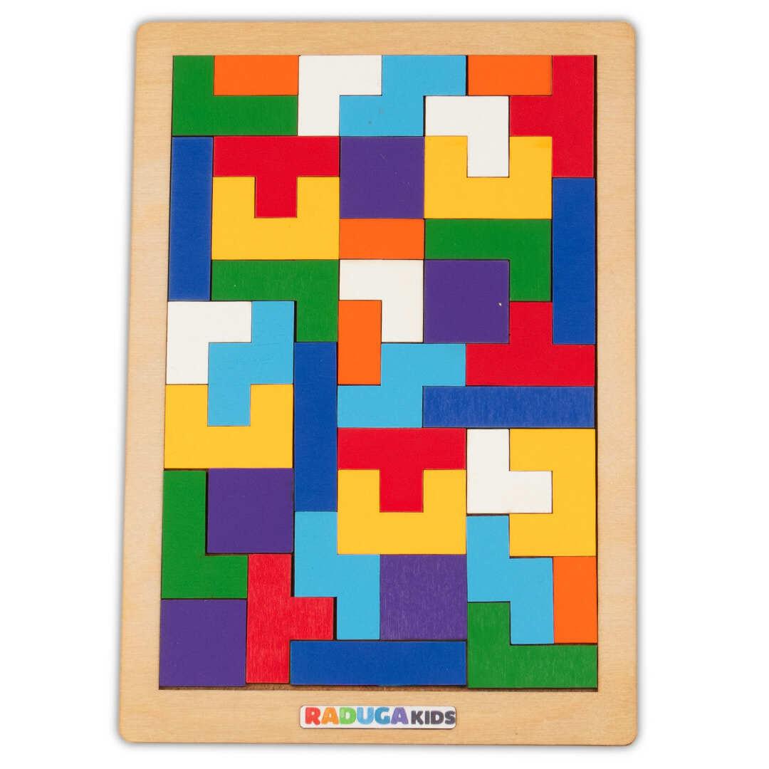 Головоломка Тетрис, деревянная игра развивающая Радуга Кидс  #1