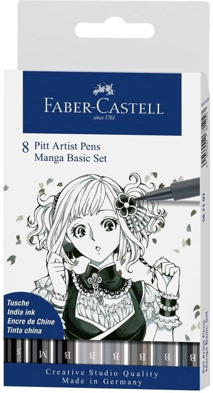 """Ручки капиллярные Faber-Castell """"Manga"""", 8 цветов #1"""