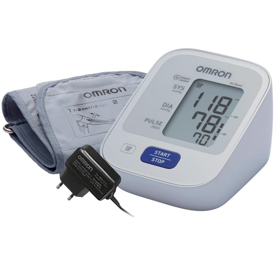 Тонометр Omron M2 Basic + адаптер, с технологией интеллектуального измерения Intellisense  #1