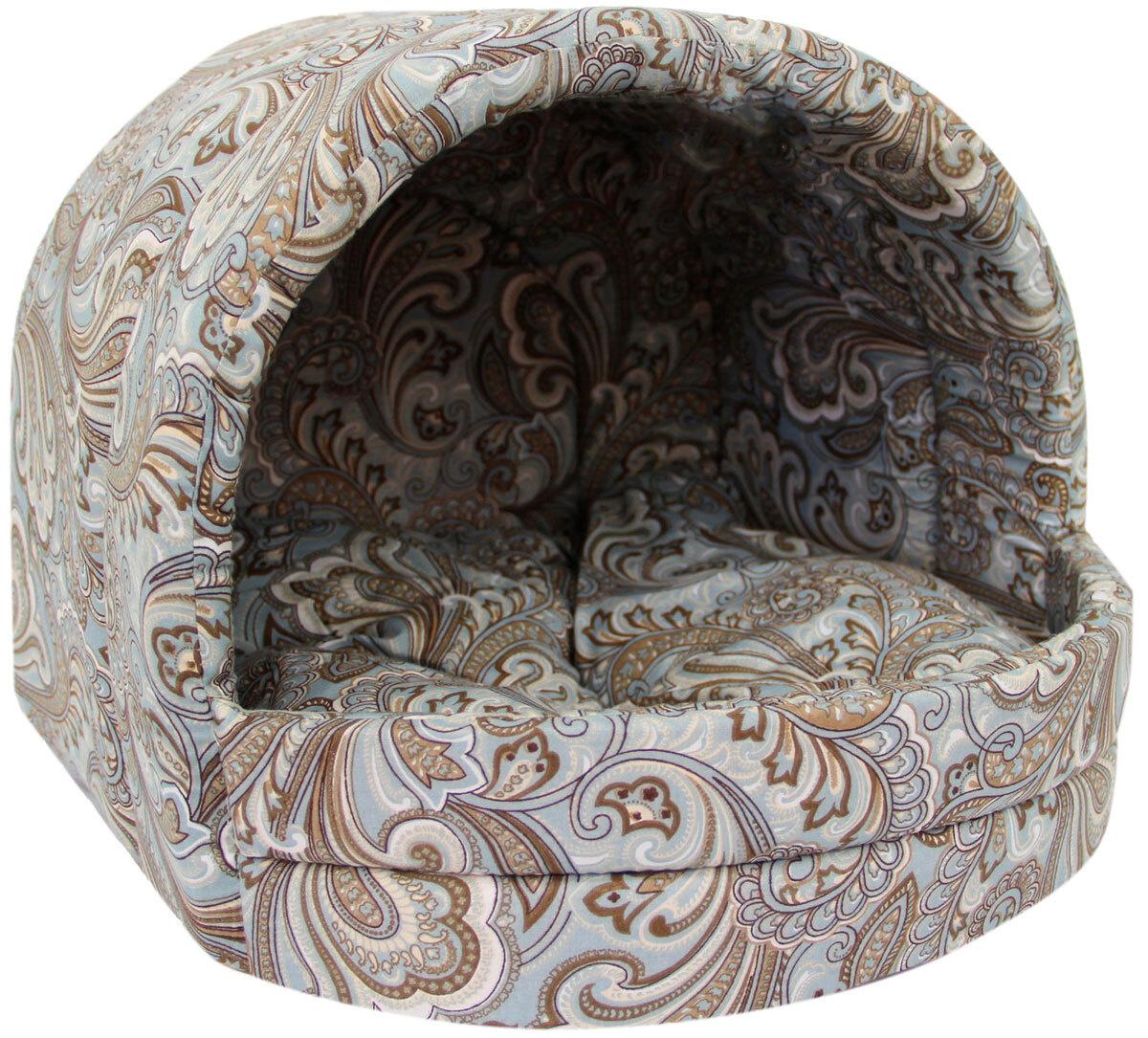 Мягкий домик Лежанка для собак эстрада № 2 огурцы 44 х 40 х 36 см  #1