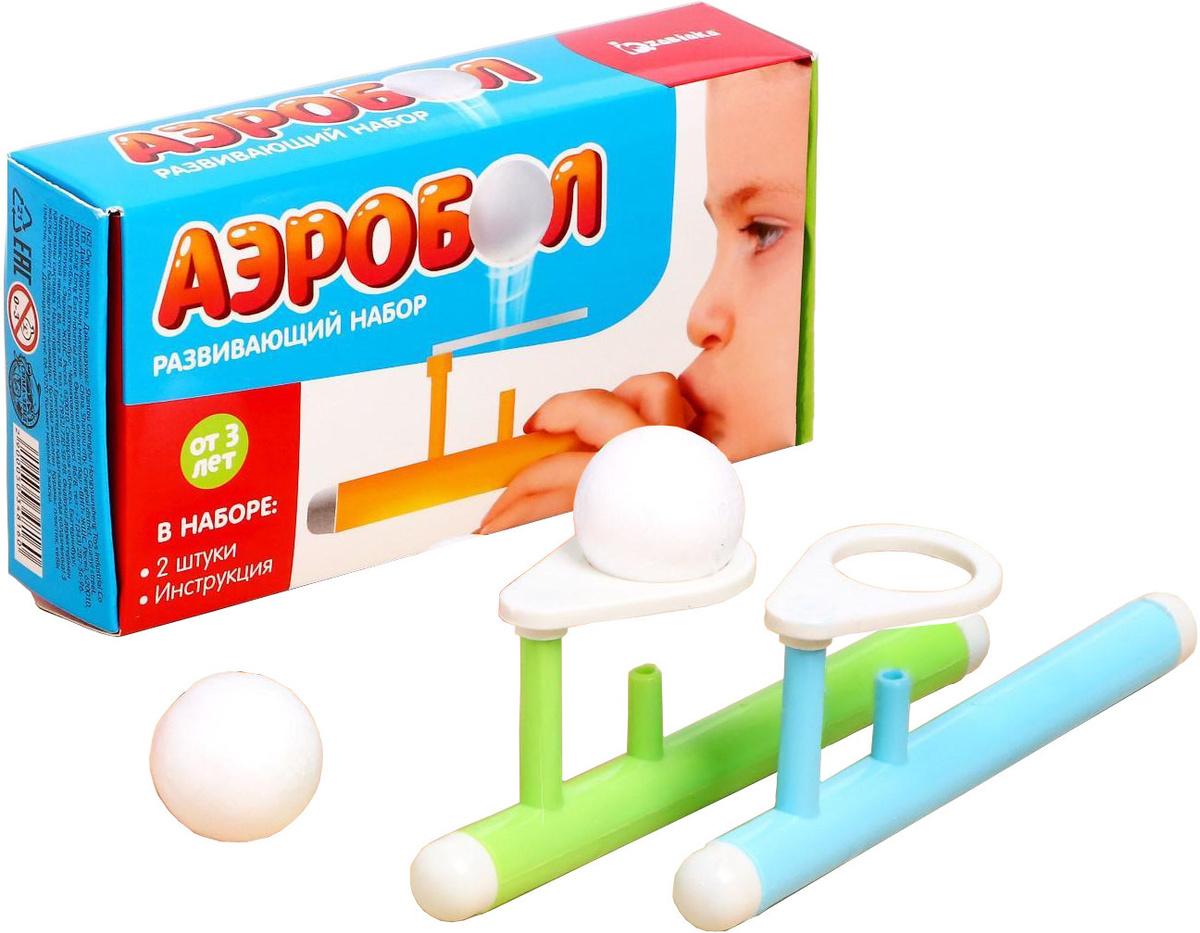 """Логопедическая игра-тренажер для развития речевого дыхания у детей """"Аэробол"""", развивающий набор из 2 #1"""