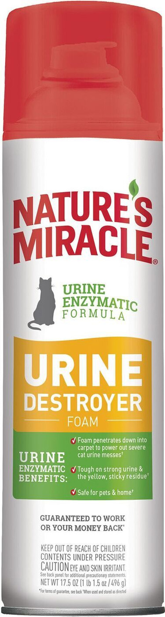 Уничтожитель пятен и запахов мочи для кошек, пена-аэрозоль 518мл  #1