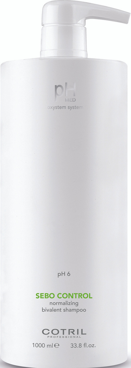 Cotril Шампунь для жирной кожи головы pH MED Sebo Control Shampoo, 1000 мл  #1