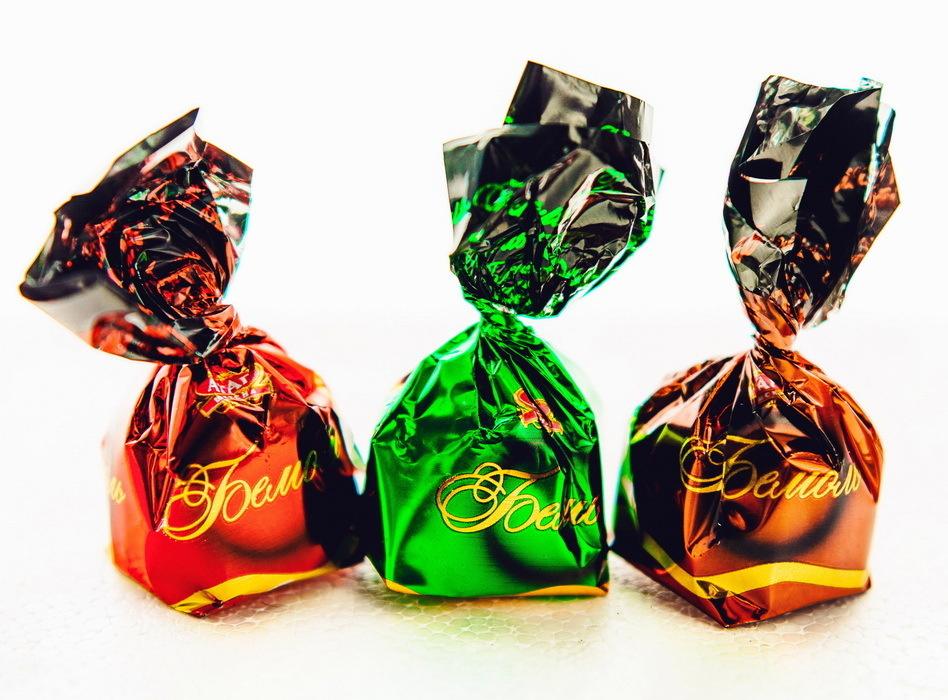 """Конфеты """"Бемоль"""" 500г. АтАг.Конфеты куполообразной формы в кондитерской глазури со сливочной комбинированной #1"""