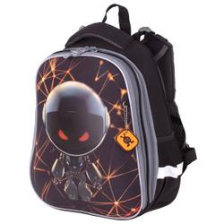 """Ранец / рюкзак / портфель школьный для мальчика первоклассника Brauberg Premium """"U.F.O"""" 2 отделения, с брелком. Не забудьте купить!"""
