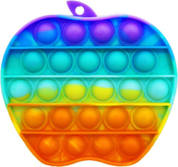 Игрушка с пузырьками POP IT/вечная пупырка Радужное яблоко, 70 г, цвет в ассортименте