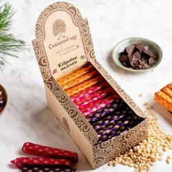 Кедровые палочки ассорти 900г Сибирский кедр / облепиха, малина, смородина / конфеты шоколадные в коробках. Лучшие товары