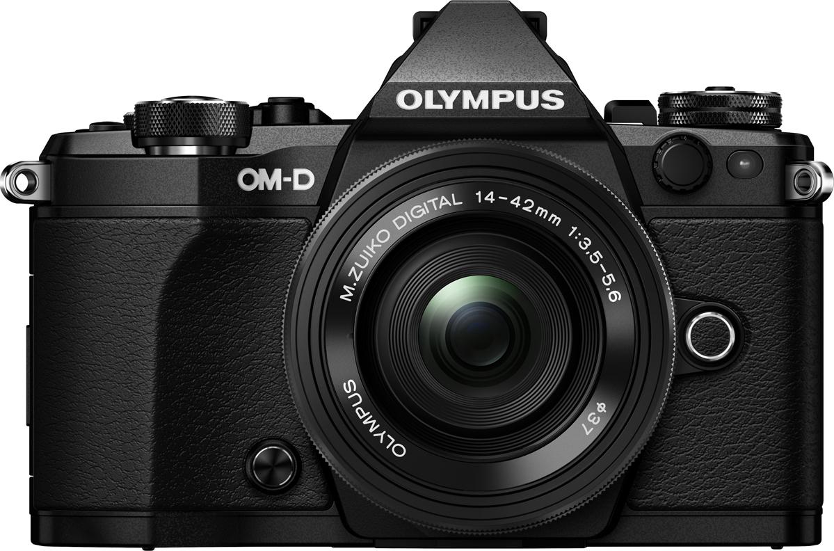 Беззеркальный фотоаппарат Olympus OM-D E-M5 II с объективом EZ-M1442EZ, черный
