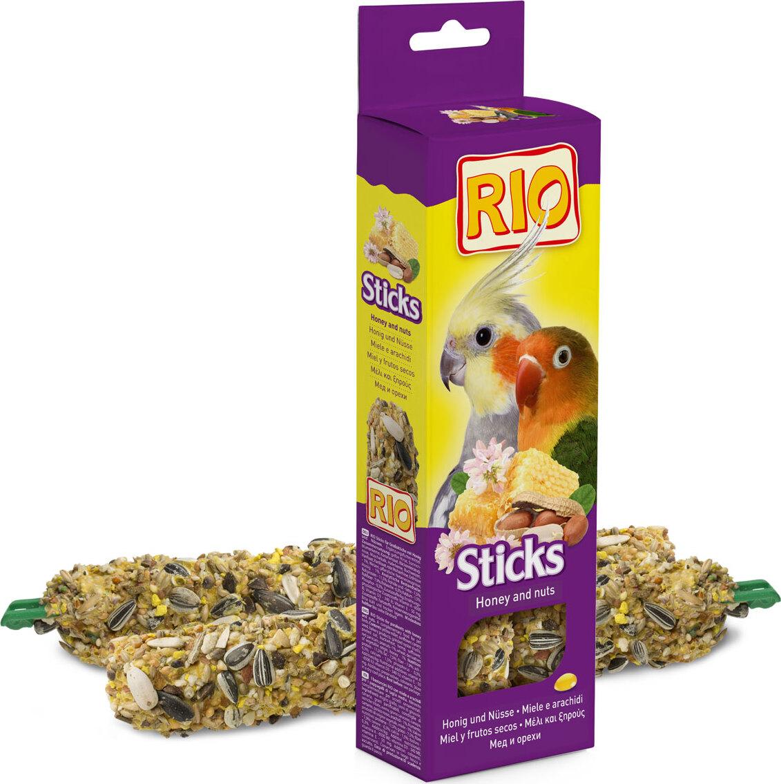 РИО Палочки д/средних попугайчиков с медом и орехами добавки fortrise