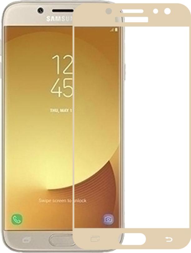 Полноприклеивающееся защитное стекло для Samsung Galaxy J7 2017 Золотой