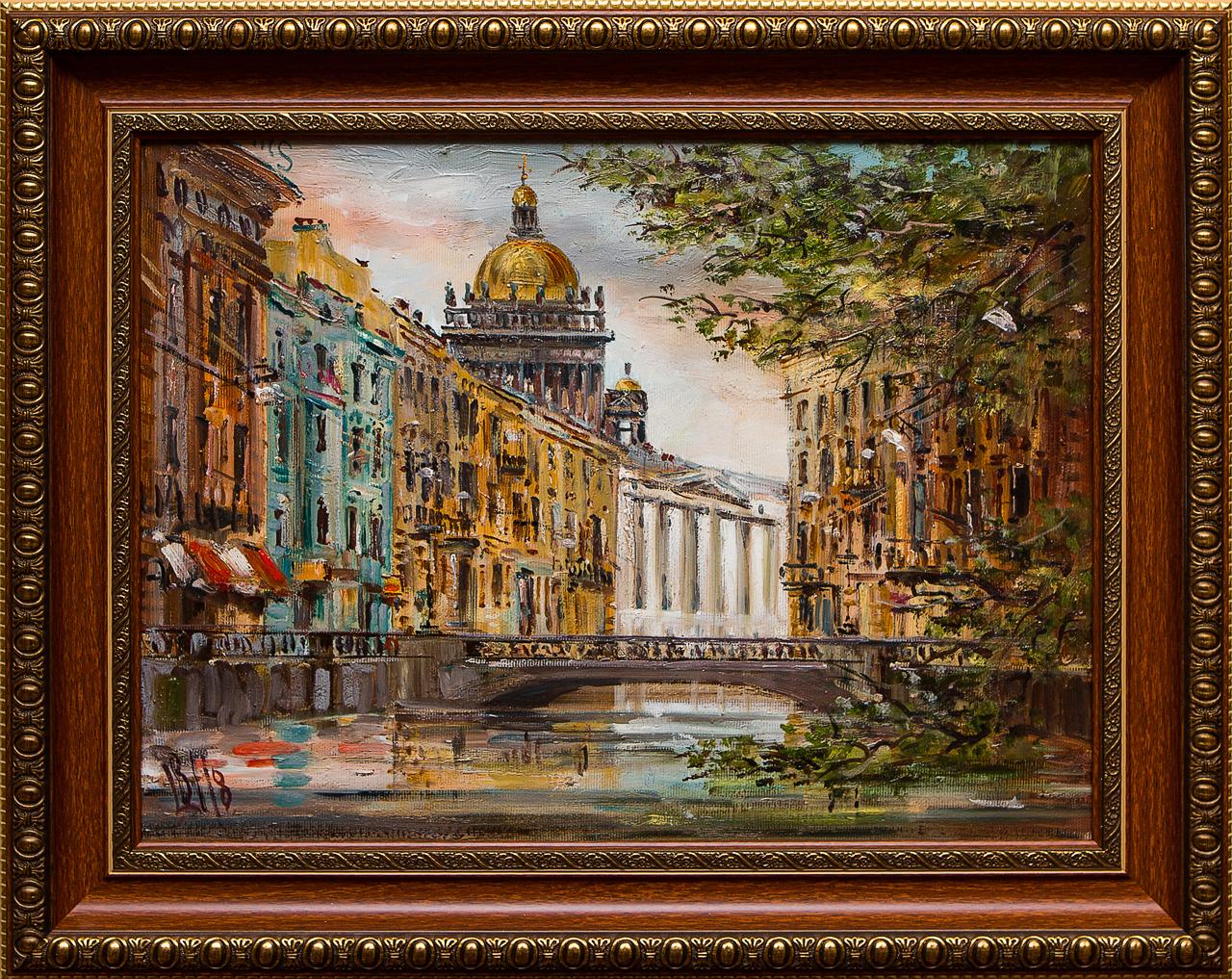Картина маслом Мойка Шеренкова картина маслом шумный город шеренкова