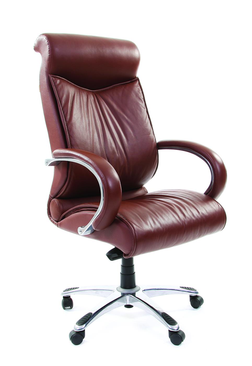 Офисное кресло Chairman    420    Россия     кожа коричневая