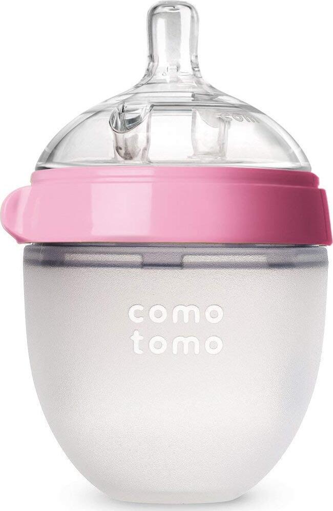 Comotomo Natural Feel Baby Bottle Бутылочка для кормления, розовый 150 мл