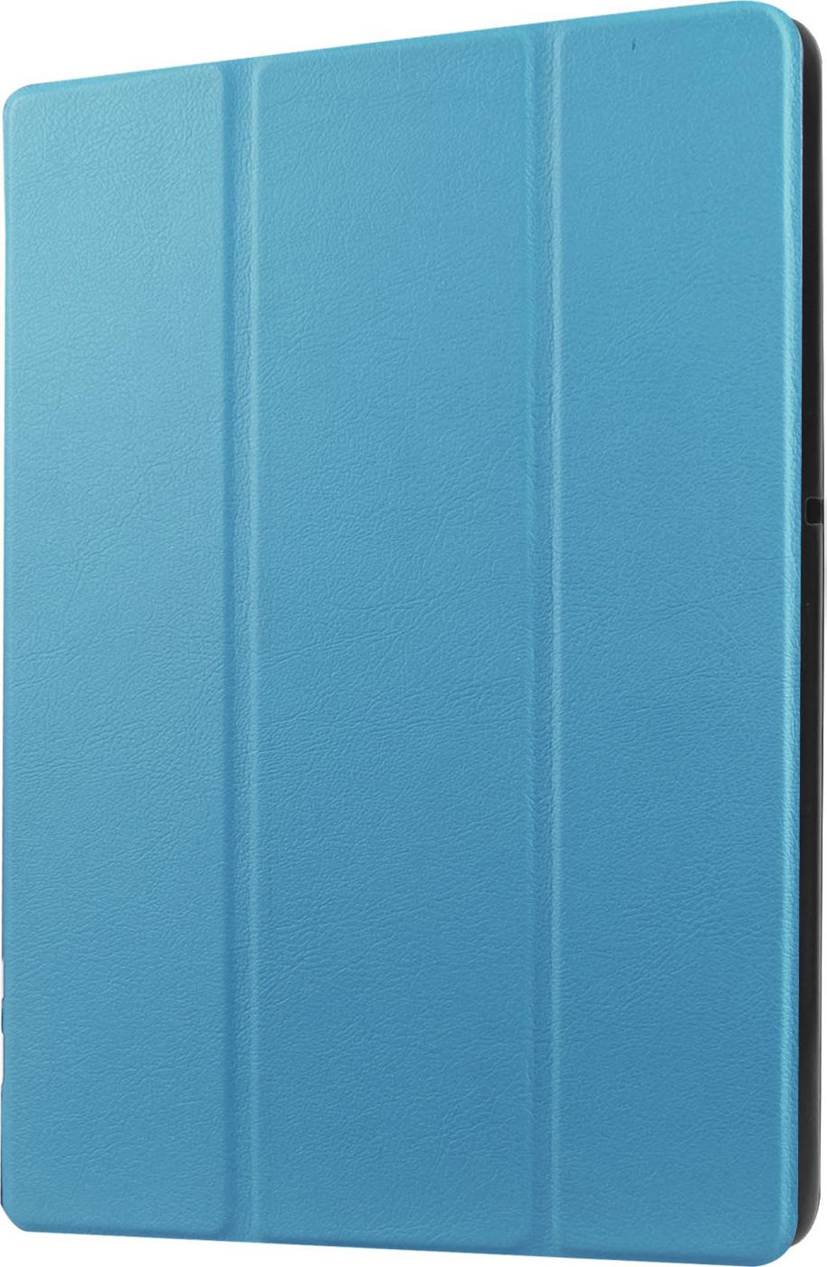 Чехол-обложка MyPads для Samsung Galaxy Tab S 10.5 тонкий умный кожаный на пластиковой основе с трансформацией в подставку бирюзовый