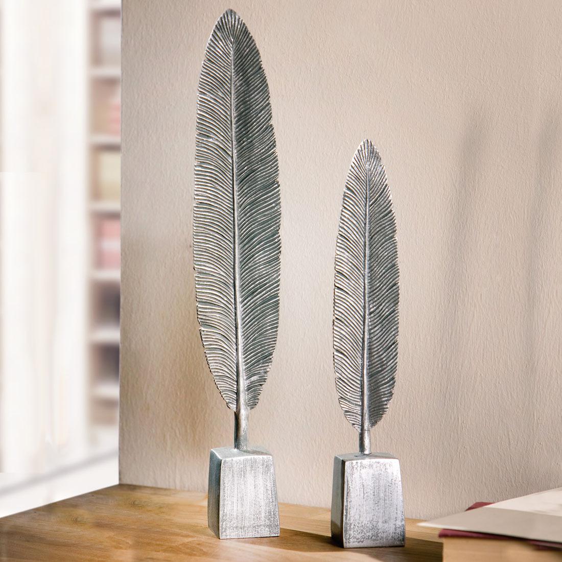 Декоративные фигуры Серебряные листья, 2 штуки