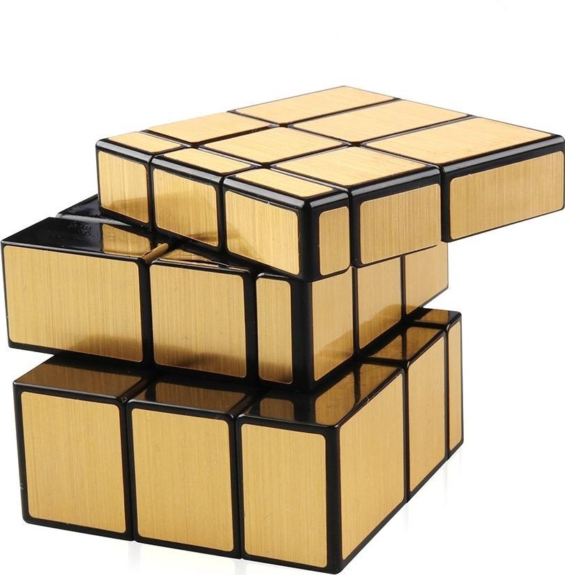 Головоломка Зеркальный Кубик YJ Mirror Cube золотой