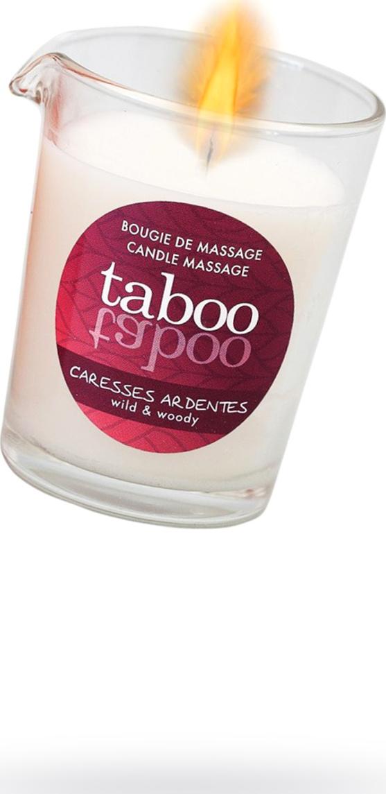 Массажное аромамасло RUF Taboo Сaresses ardentes с афродизиаками для мужчин, возбуждающим эффектом и древесным ароматом, 60 г.