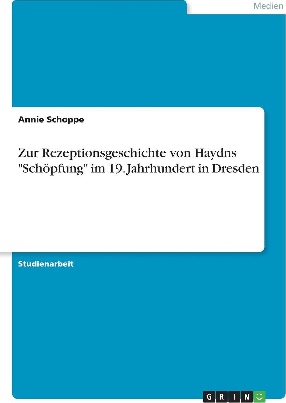 Zur Rezeptionsgeschichte von Haydns
