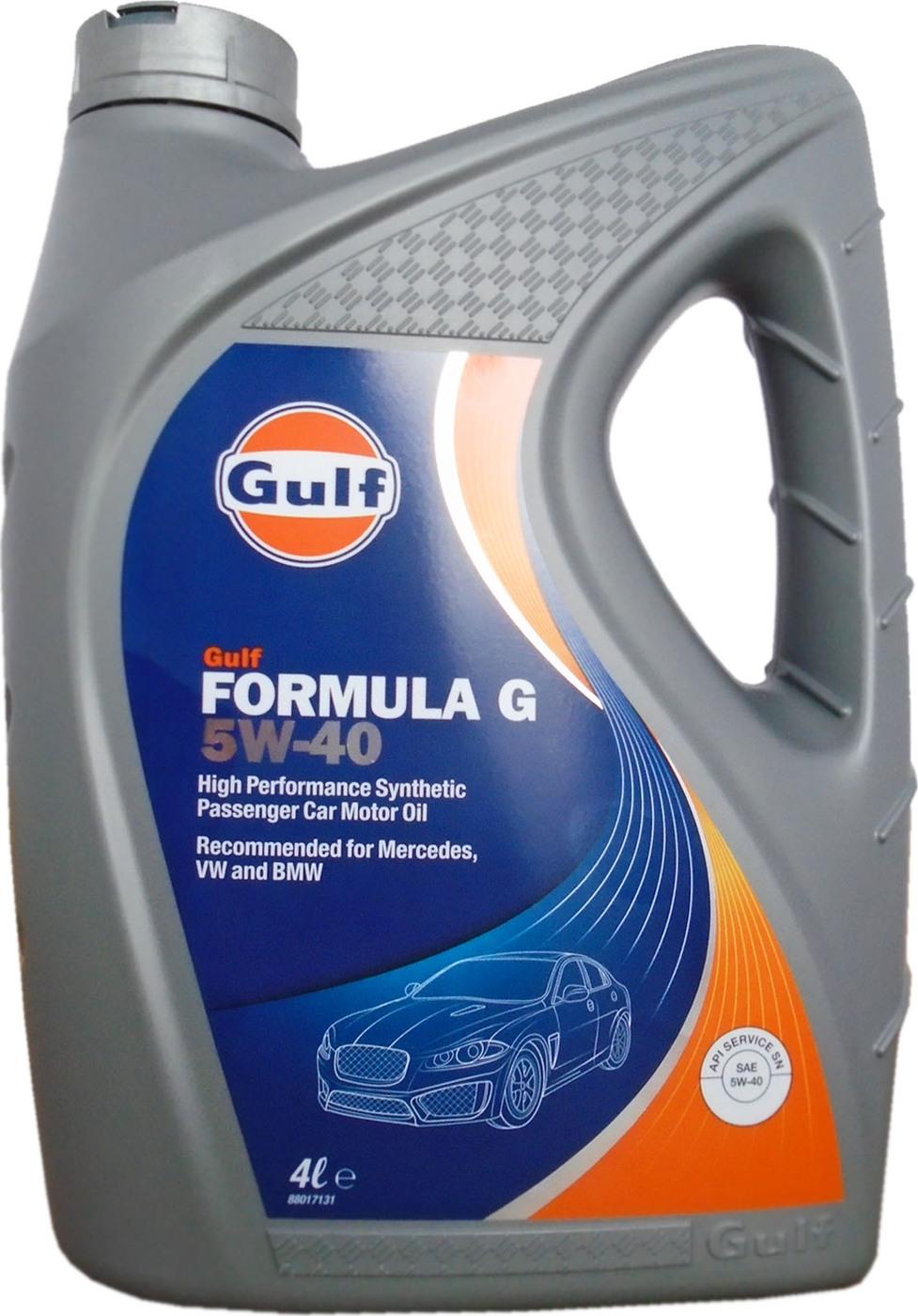 Моторное масло GULF Formula G SAE 5W-40 (4л)